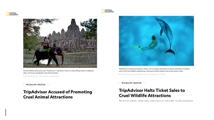 The power of a compelling campaign: Rachael Bale's investigative report for National Geographic helped to achieve ...
