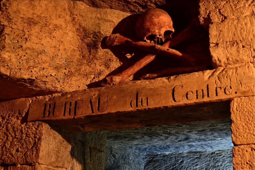 There are a number of ossuaries in the catacombs. A crisis of space in the 18th ...