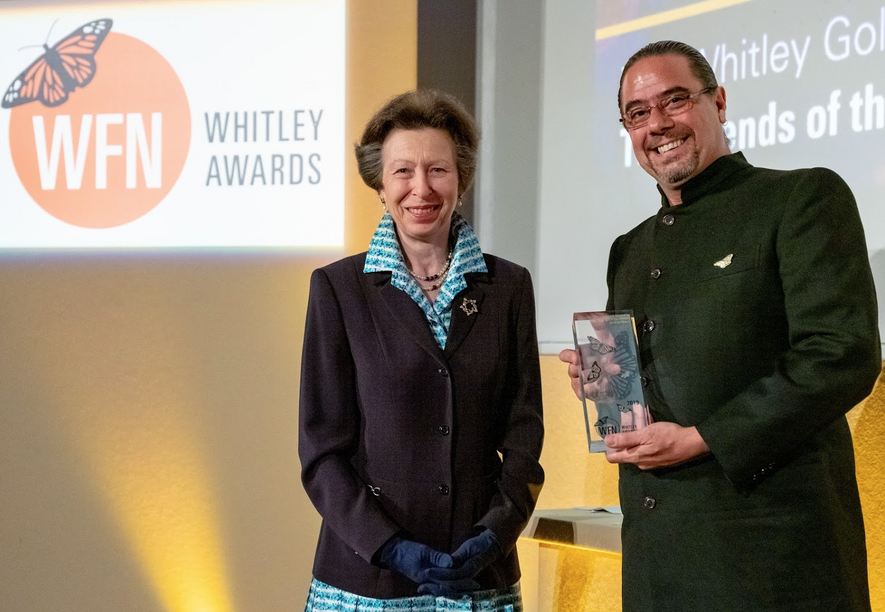 """This [declaration] should open the eyes of other developed nations who are not yet acknowledging the impact of climate change on the planet."" Jon Paul Rodriguez, Gold Award Winner, with the Princess Royal."