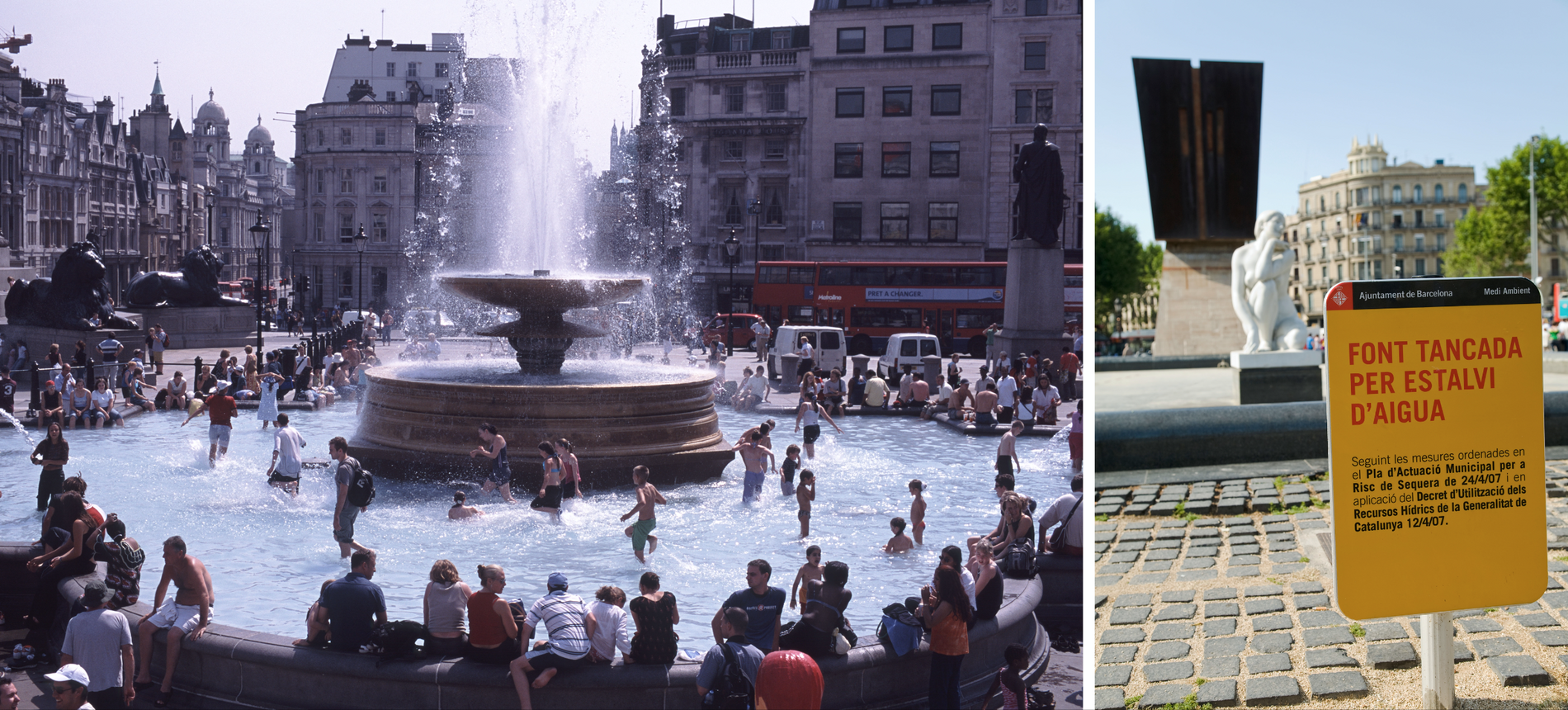 Reactions in London during the hottest heatwave on record (38.1 deg C, 2003) – and a ...