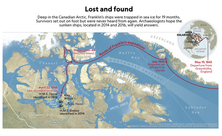Unlocking the mythologised and notorious northwest passage was the object of the Erebus and Terror's mission.