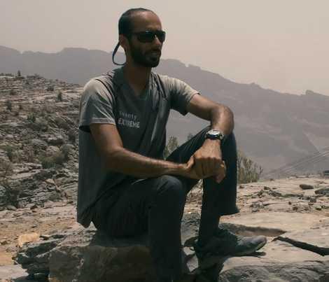 Climbing makes Hamid Alshabnooti feel free.