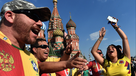 Fans feel the World Cup 2018 fever in Moscow.