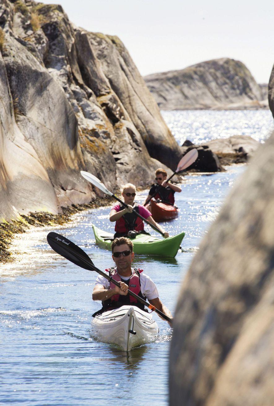Kayaking in the Bohuslän archipelago.
