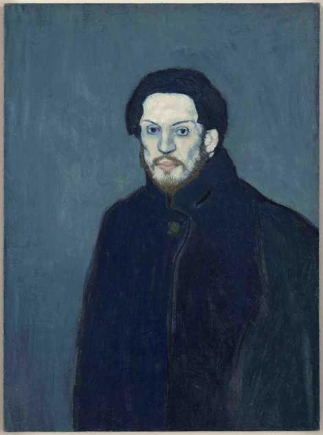 Self-portrait by Pablo Picasso, 1901.
