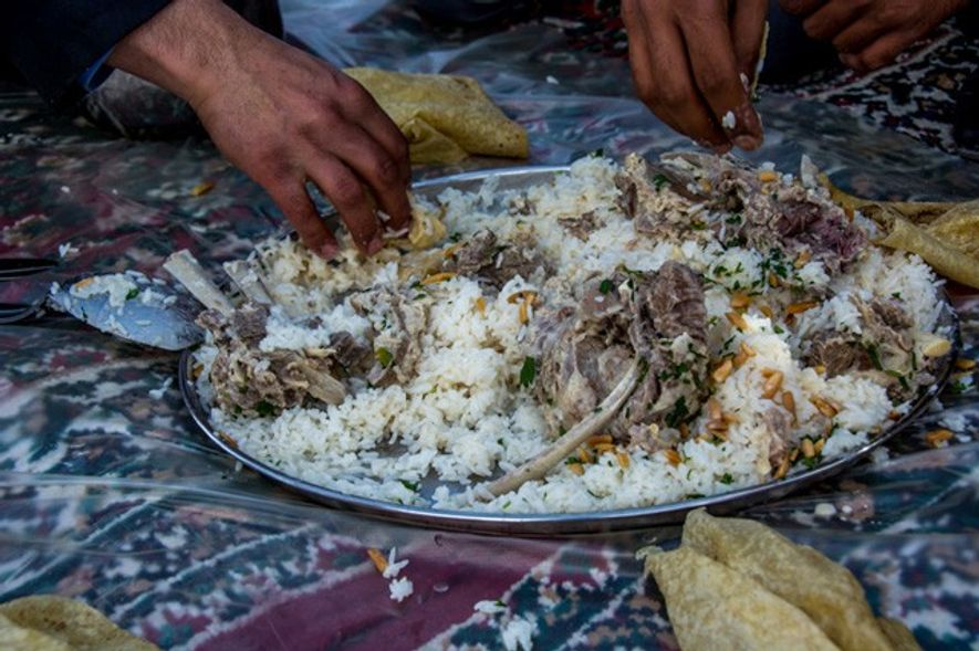 Dish of Mansaf.