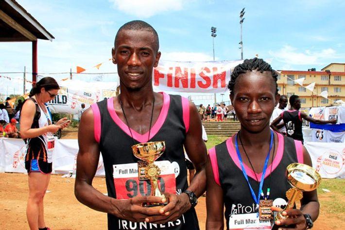 Sierra Leone Marathon winners