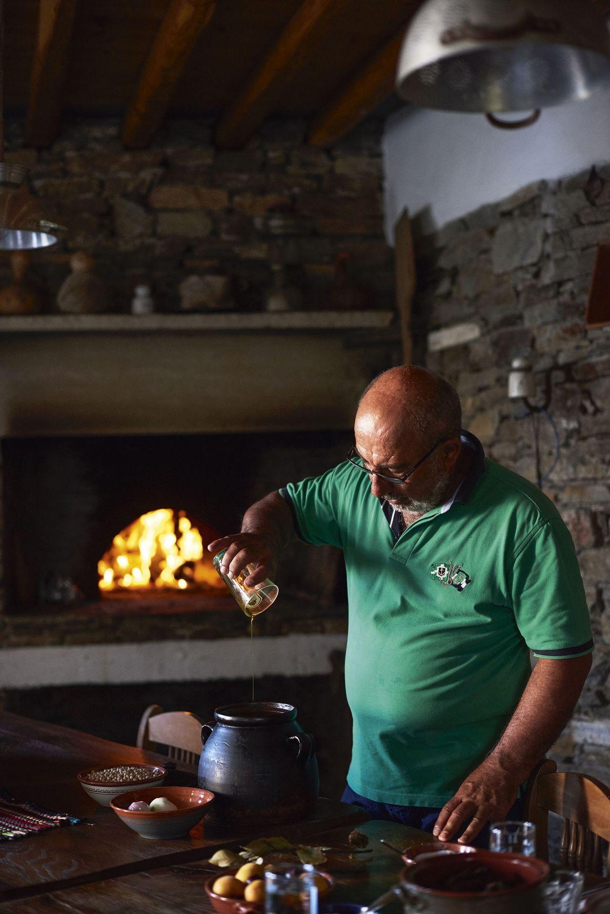 George preparing Sunday lunch.