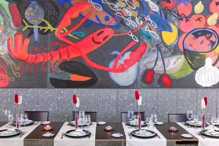 Restaurant at Hotel Silken Puerta Valencia.