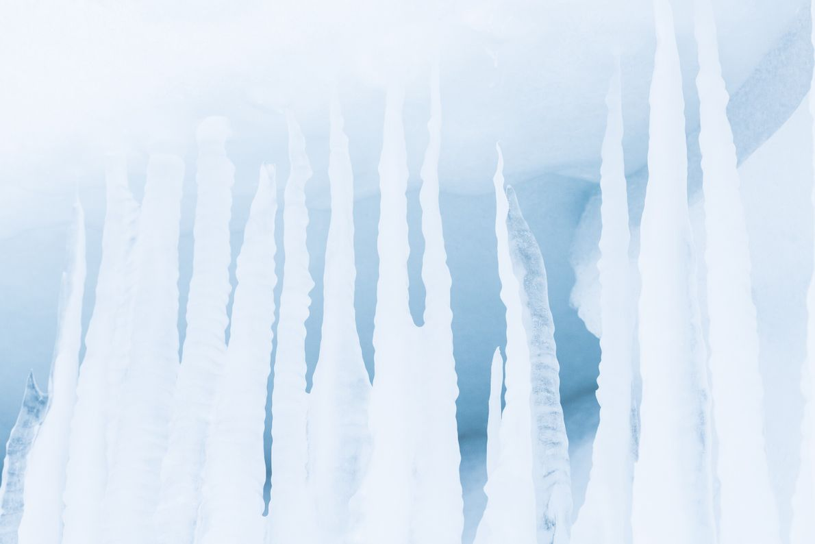 "Icicles in Skånland, Troms. Stian Klo: ""In winter we get long periods of intensely cold temperature and ..."