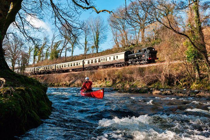 Kayaking by South Devon Steam Railway