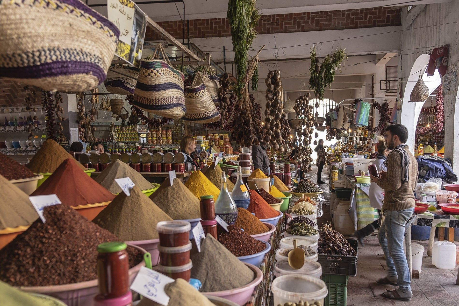 Spice market in Nabeul