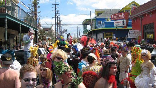 Mardi gras in New Orleans.