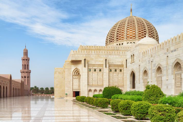 The Sultan Qaboos Grand Mosque in Muscat is one of the largest in the Middle East.