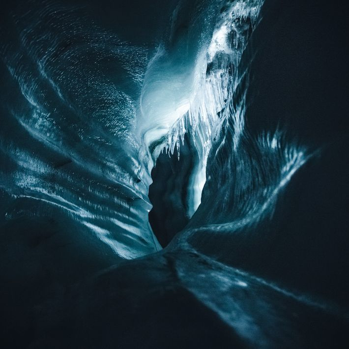An ice cave near Longyearbayen, on the Norway-governed archipelago of Svalbard – located at 78°N. Stian ...
