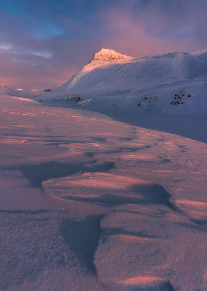 "A sunrise in Svalbard. Stian Klo: ""Svalbard holds a special place in my heart. 60% of the ..."