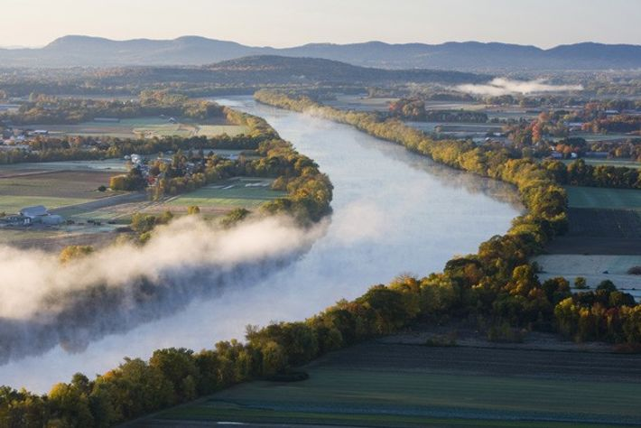 The Connecticut River, New England.