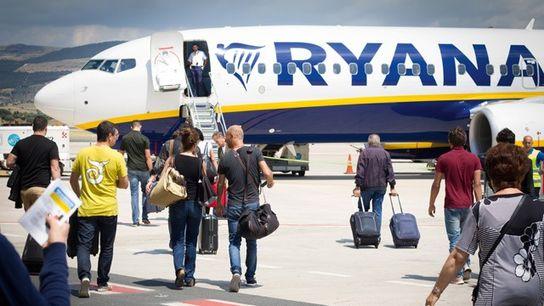 Ryanair passengers boarding