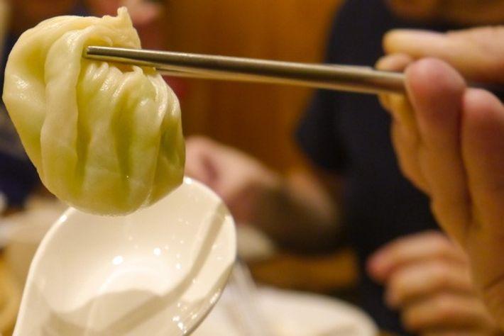 Xio Long Bao at Din Tai Fung Dumpling House, Taipei. Image: Audrey Gillan.