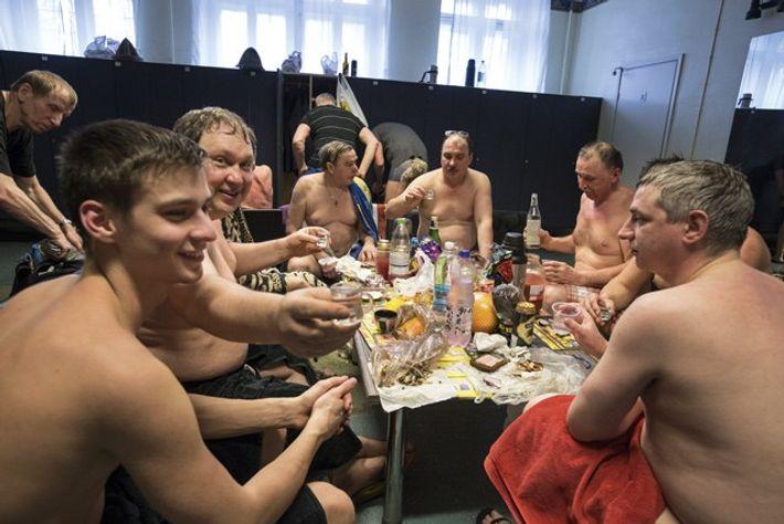 Vokdka shots at the Kalma Sauna. Image: Daniel Allen