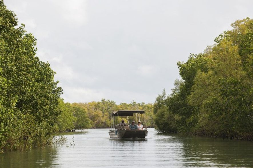 River Safari on the Wami River, Saadani National Park, Tanzania. Image: Saadani Sanctuary Retreats.