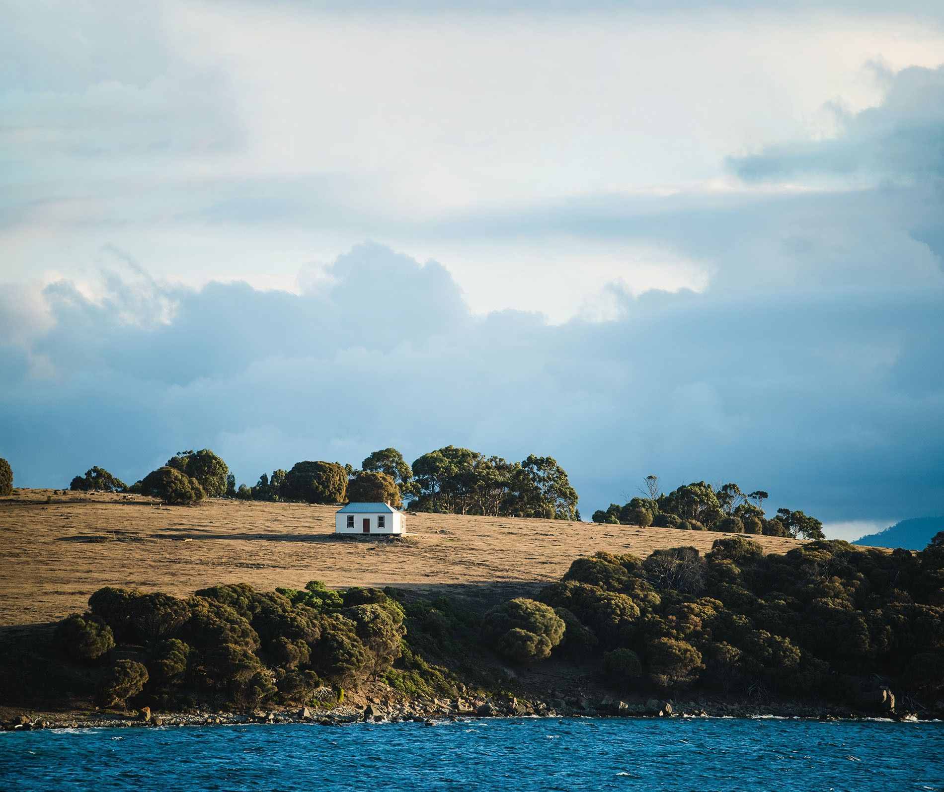 Mrs Hunt's Cottage, Maria Island. Located in the Tasman Sea, Maria Island is a 30-minute ferry ride from Triabunna on the east coast of Tasmania.