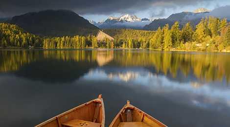 Slovakia lake and mountains