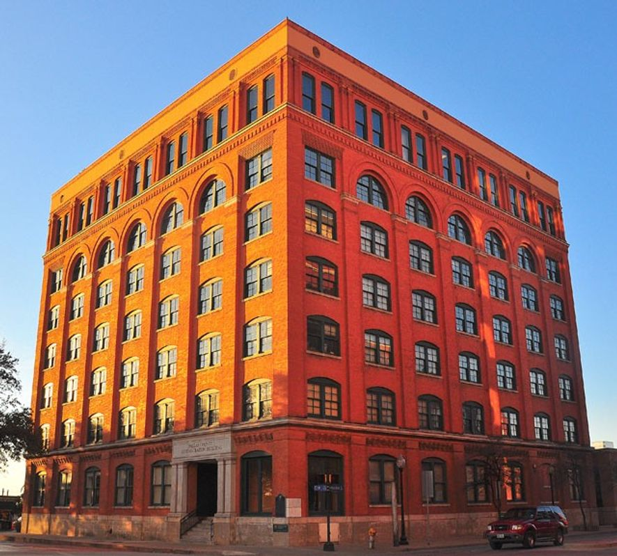Texas School Book Depository by sunset