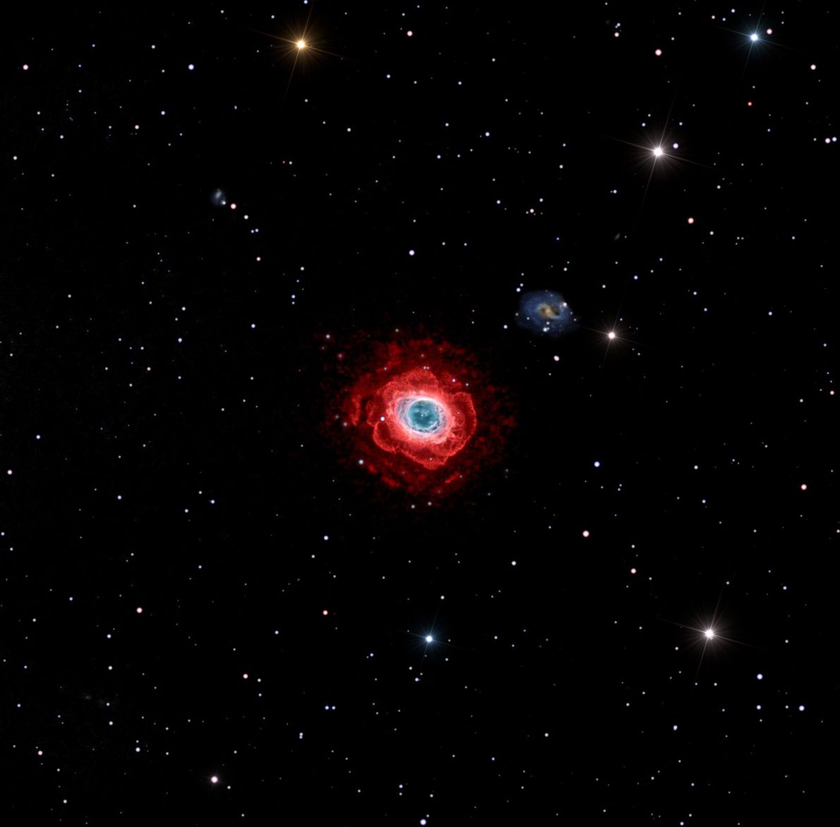 Shot above Mayhill, New Mexico, this image of the Messier 57 nebula was shot over a ...