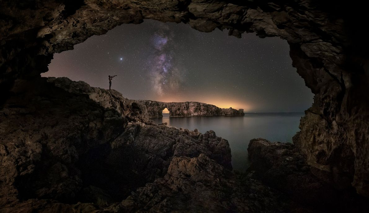 The island of Menorca was designated as a Starlight Reserve in 2019. Shot using six exposures, ...