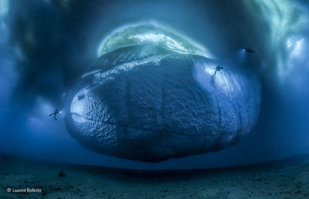 Only 10 per cent of the volume of iceberg's is ever visible above the surface – ...