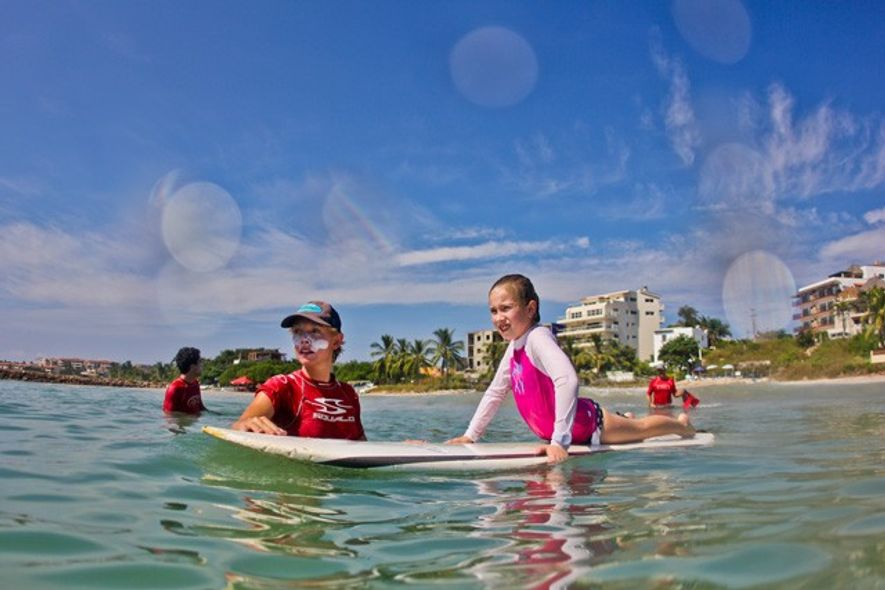 Learning to surf, Mexico. Image: Wildmex