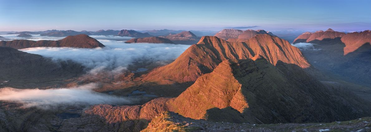 """The view from Sgurr Mor (986m) on Beinn Alligin is one of the finest in Scotland ..."