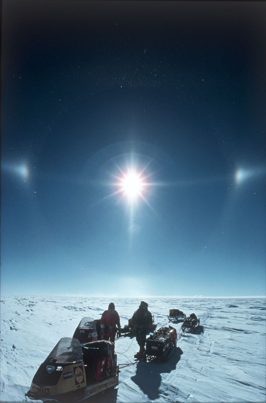 Snowmobiles were used by Sir Ranulph and his team for the record-breaking Transglobe Expedition in 1980. ...