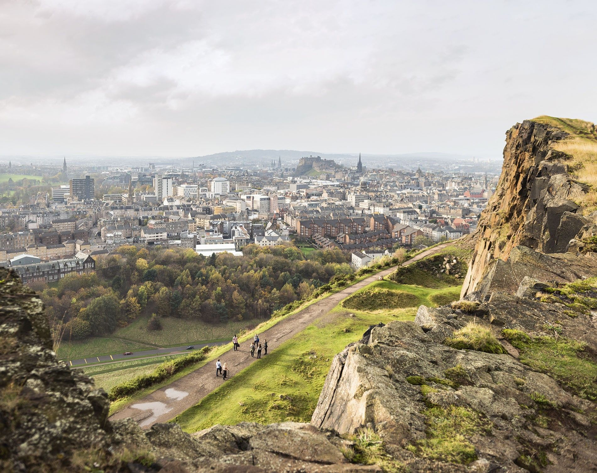 View of Edinburgh from Salisbury Crags.