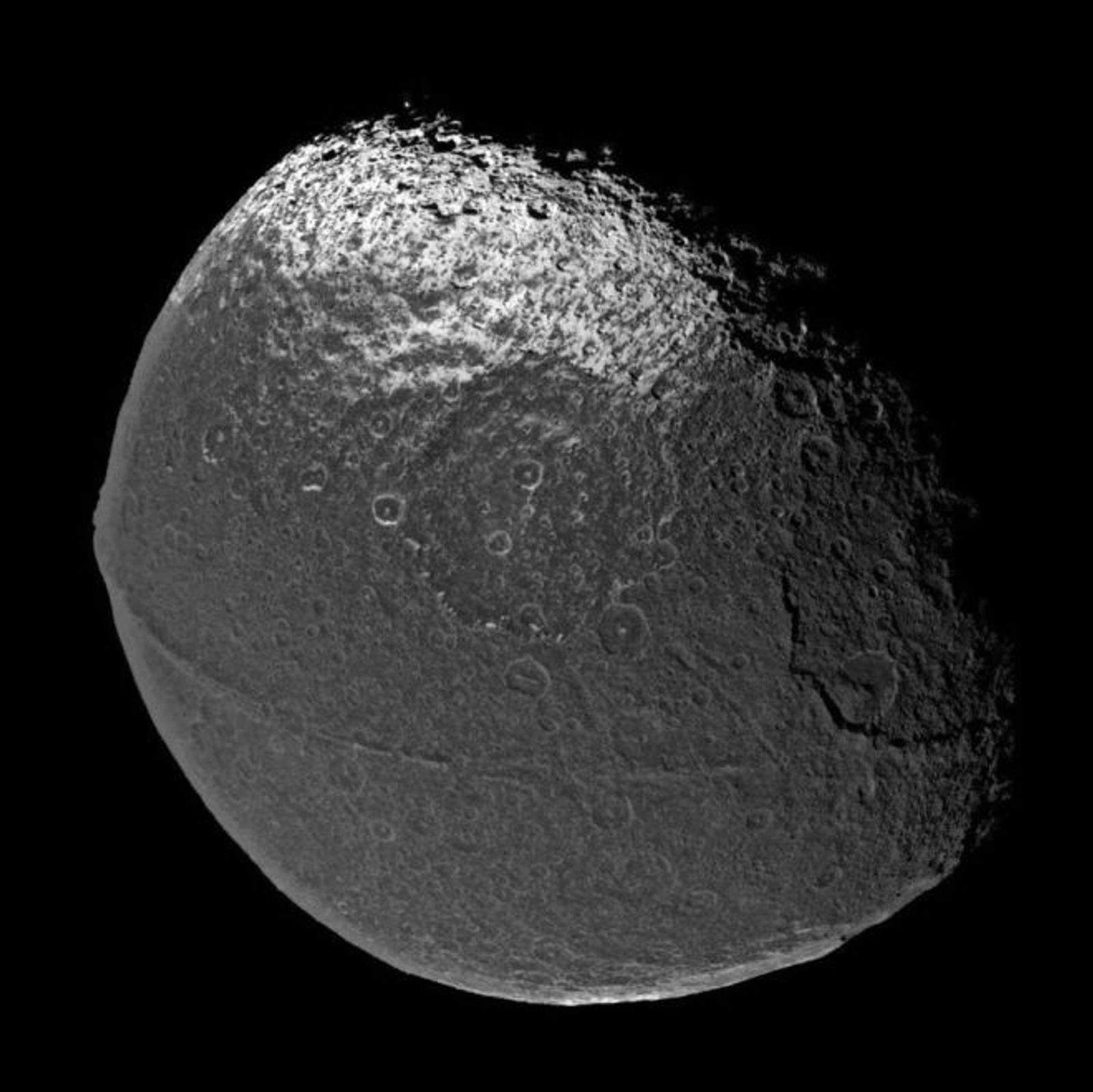 Saturn's Moon Wears the Weirdest Mountain Range in the Solar System