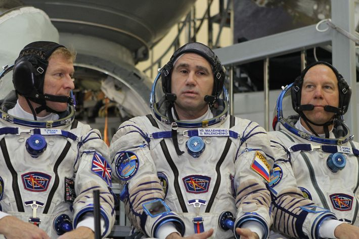 There's no scope for national differences on the International Space Station. Here, Tim Peake (left) is ...