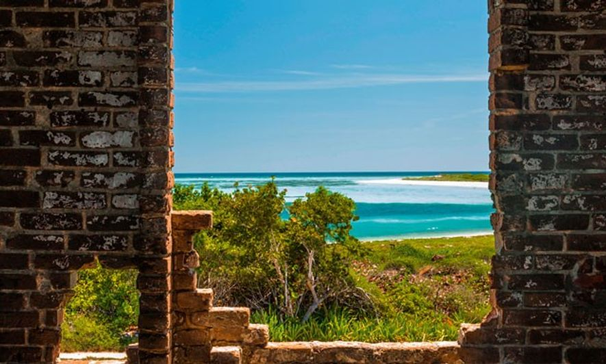 View from Fort Jefferson across the Gulf of Mexico, Dry Tortugas National Park.