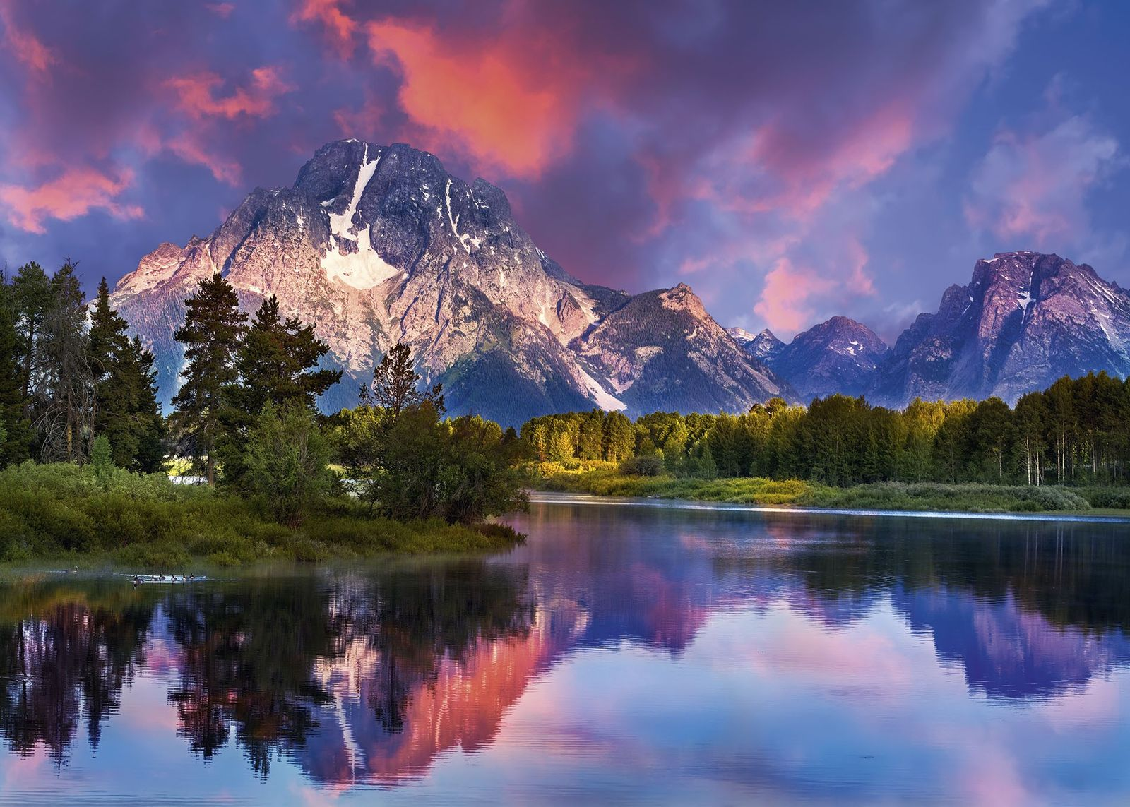 Sunrise at the Oxbow Bend of the Snake River, Wyoming