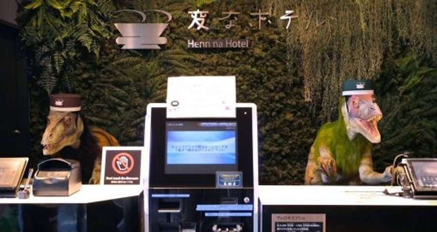 Could robot staff like those at the Henn na Hotel be a thing of the future? Image: ...