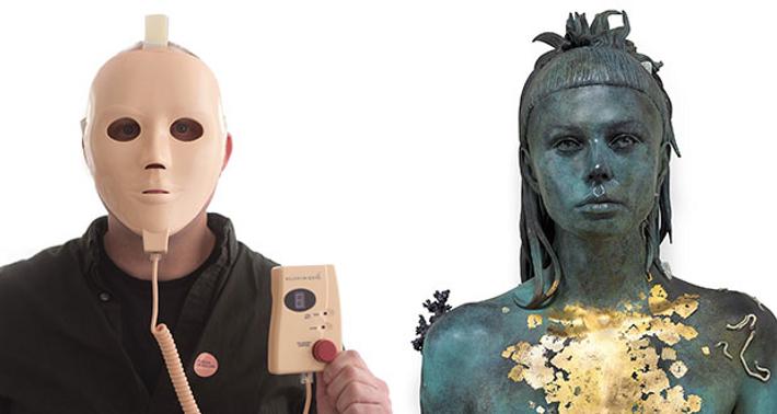Rejuvenique Electric Facial Mask (left)// Aspect of Katie Ishtar ¥o-landi (right)