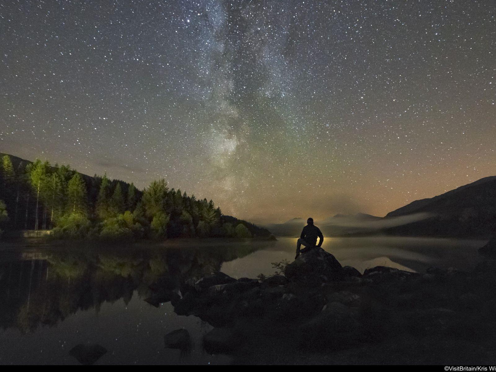 Stargazing at Snowdonia International Dark Sky Reserve, Wales.