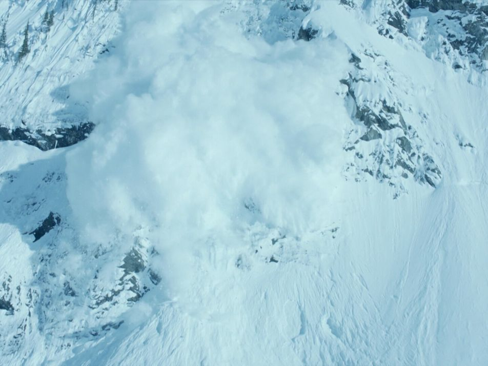 Watch mesmerising footage of an avalanche