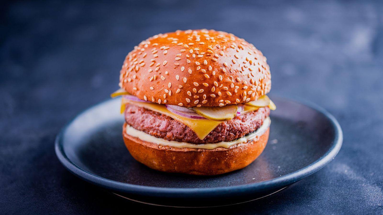 Classic vegan burger from Dirty Bones.