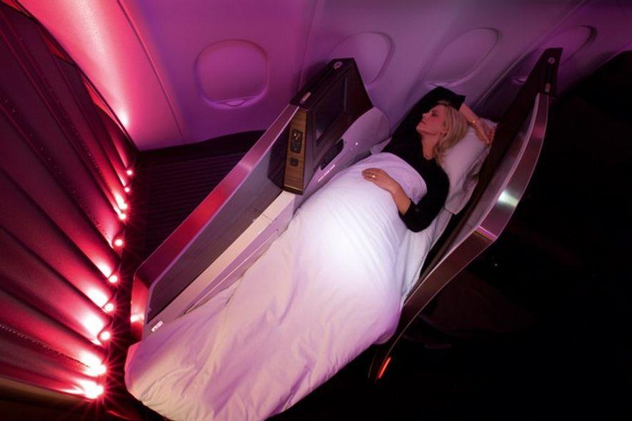 Virgin Atlantic bed. Image: Virgin Atlantic