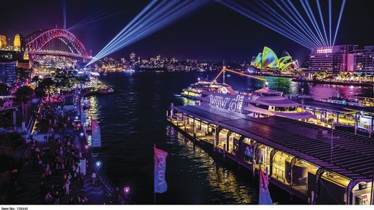 Sydney during the Vivid Sydney festival