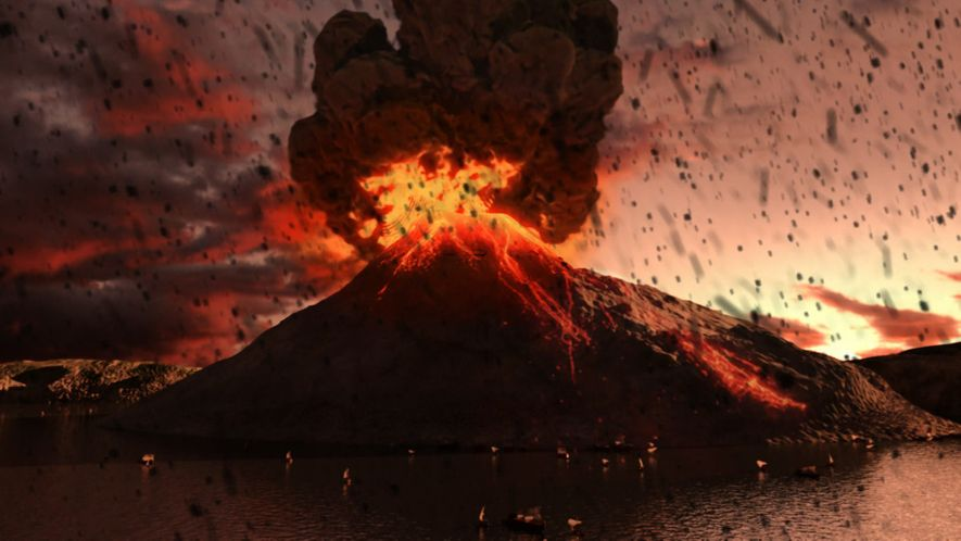 Was a volcano that destroyed Atlantis?
