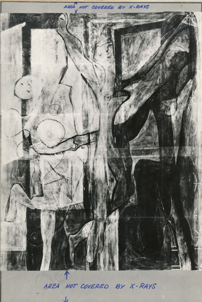 X-Ray image of the The Three Dancers by Picasso helps reveal new details concealed under the ...