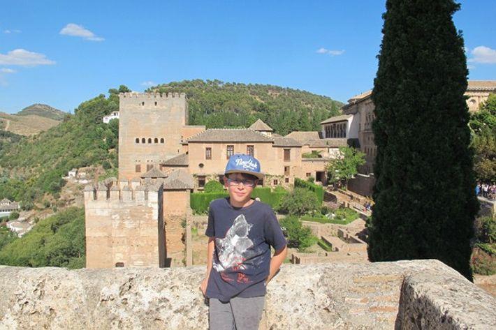 Zac at the Alcazaba, Granada