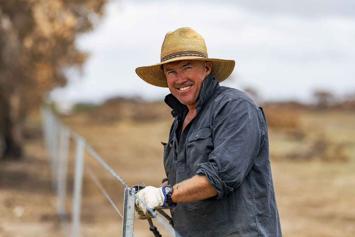 The indomitable Aussie ethos is to endure without complaint. Here, Kangaroo Island farmer Richard Satchell replaces ...